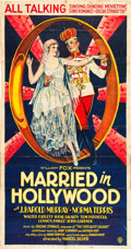"Movie Posters:Musical, Married in Hollywood (Fox, 1929). Three Sheet (40.75"" X 77.5"")....."