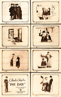 """Pay Day (First National, 1922). Lobby Card Set of 8 (11"""" X 14""""). ... (Total: 8 Items)"""
