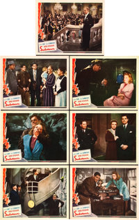 """Saboteur (Universal, 1942). Lobby Cards (7) (11"""" X 14""""). ... (Total: 7 Items)"""