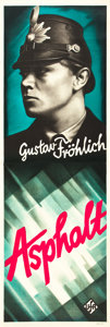 "Movie Posters:Foreign, Asphalt (UFA, 1929). German (2) (19"" X 57"").. ... (Total: 2 Items)"