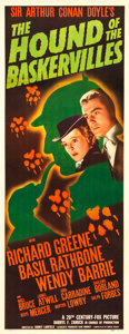 """Movie Posters:Mystery, The Hound of the Baskervilles (20th Century Fox, 1939). Insert (14"""" X 36"""").. ..."""