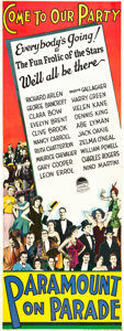 """Movie Posters:Musical, Paramount on Parade (Paramount, 1930). Insert (14"""" X 36"""").. ..."""