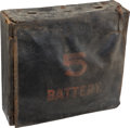 Military & Patriotic:Indian Wars, Nicely Decorated C. 1870 Box Knapsack Probably New York State...