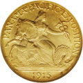 Commemorative Gold: , 1915-S Panama-Pacific Quarter Eagle MS67 NGC. A magnificent exampleof this scarce commemorative gold coin, from a net minta...