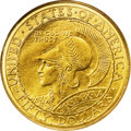 Commemorative Gold: , 1915-S $50 Panama-Pacific 50 Dollar Round MS64 PCGS. One of themost magnificent gold coins ever struck, by any country, em...