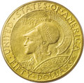 Commemorative Gold: , 1915-S $50 Panama-Pacific 50 Dollar Round--Bent--NCS. Unc. Details.While the designs of Robert Aitken, sculptor of the Pan...