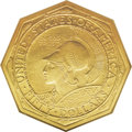 Commemorative Gold: , 1915-S $50 Panama-Pacific 50 Dollar Octagonal--Scratched--NCS. UncDetails. A lengthy scratch on the reverse extends from t...