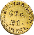 Territorial Gold: , (1837-42) $2 1/2 C. Bechtler Quarter Eagle, 67G. 21C. MS62 NGC.K-10, R.5. Similar to the Kagin-9 variety, but with 67.G./2...
