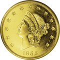 Territorial Gold: , 1855 $50 Kellogg & Co. Fifty Dollar PR64 PCGS. K-4, Breen-7921, High R.6. This is a remarkable example with extraordinary g...