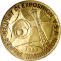 Expositions and Fairs: , Set of 1962 Seattle World's Fair Gold Medals. This set consists ofone large (64 mm.) medal, eight medium (38 mm.) medals, a...(Total: 10 medals)
