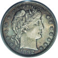 Barber Quarters: , 1892 25C MS66 PCGS. Type Two Reverse. Despite the generous first-year mintage and the considerable numbers saved, careless ...
