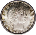 Barber Quarters: , 1892-S 25C MS65 PCGS. Type One Reverse. The mintmark is perfectlycentered beneath the eagle's tail, a characteristic that ...