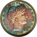 Proof Barber Quarters: , 1898 25C PR67 Cameo NGC. For an unknown reason, the 1898 proofs have an unusually high NGC population of Cameo and Deep Cam...