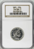 Proof Barber Quarters: , 1905 25C PR66 NGC. Deeply reflective with modest contrast and a hint of golden toning on each side. The devices have excell...