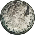Proof Barber Quarters: , 1910 25C PR67 NGC. A wondrously original coin that has extensive speckles of dark color across the obverse with bright unde...