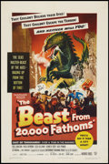 "Movie Posters:Science Fiction, The Beast from 20,000 Fathoms (Warner Brothers, 1953). One Sheet(27"" X 41""). Science Fiction.. ..."