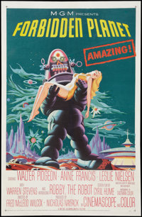 """Forbidden Planet (MGM, 1956). One Sheet (27"""" X 41""""). Science Fiction"""