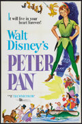 "Movie Posters:Animated, Peter Pan (Buena Vista, R-1976). One Sheet (27"" X 41""). Animated.. ..."