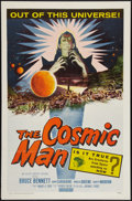 "Movie Posters:Science Fiction, The Cosmic Man (Allied Artists, 1959). One Sheet (27"" X 41"").Science Fiction.. ..."