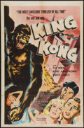"Movie Posters:Horror, King Kong (RKO, R-1956). One Sheet (27"" X 41""). Horror.. ..."