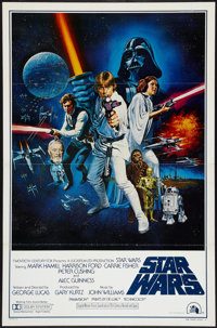 "Star Wars (20th Century Fox, 1977). One Sheet (27"" X 41"") Style C, Flat Folded. Science Fiction"