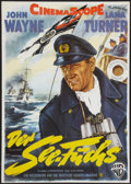 """Movie Posters:War, The Sea Chase (Warner Brothers, R-1960). German A1 (24"""" X 33.5"""").War.. ..."""