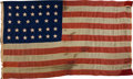 Military & Patriotic:Civil War, Fantastic Thirty-Four Star Flag With Association to a Soldier of the 89th Illinois Killed at Chickamauga....