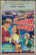 "Movie Posters:Western, Red River (United Artists, 1948). Belgian (14.25"" X 21.5"").Western.. ..."