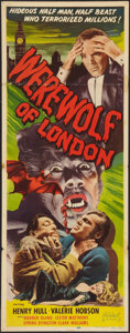"Movie Posters:Horror, Werewolf of London (Realart, R-1951). Insert (14"" X 36""). Horror....."