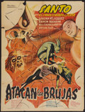 "Movie Posters:Horror, Santo Attacks the Witches (Producciones Cinematográficas Valdés, 1968). Mexican One Sheet (24"" X 32""). Horror.. ..."
