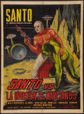 "Movie Posters:Science Fiction, Santo vs. the Martian Invasion (Producciones CinematográficasValdés, 1967). Mexican One Sheet (27.25"" X 37.25""). Science Fi..."