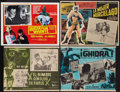 "Movie Posters:Science Fiction, Mexican Science Fiction Lot (Various, 1960s). Lobby Cards (4)(12.75"" X 15.5"", 12.5"" X 15.5"", 12.5"" X 16.5"" & 12"" X 16.25"")... (Total: 4 Items)"