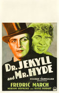 "Movie Posters:Horror, Dr. Jekyll and Mr. Hyde (Paramount, 1931). Window Card (14"" X22"").. ..."