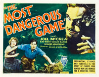 "The Most Dangerous Game (RKO, 1932). Half Sheet (22"" X 28"")"
