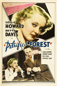 """The Petrified Forest (Warner Brothers, 1936). Meloy Brothers Poster (40"""" X 60"""")"""