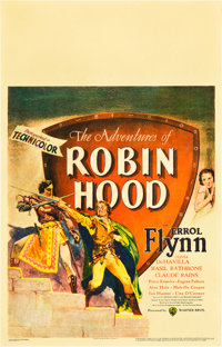 "The Adventures of Robin Hood (Warner Brothers, 1938). Window Card (14"" X 22"")"