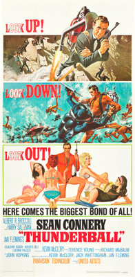 "Thunderball (United Artists, 1965). Three Sheet (41"" X 81"")"