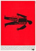 "Movie Posters:Drama, Anatomy of a Murder (Art Krebs Screen Studio, 1984). Saul BassSilk-Screen Poster (25.25"" X 35.5"").. ..."
