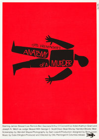 "Anatomy of a Murder (Art Krebs Screen Studio, 1984). Saul Bass Silk-Screen Poster (25.25"" X 35.5"")"
