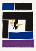 "Movie Posters:Drama, The Man with the Golden Arm (Art Krebs Screen Studio, 1980s). SaulBass Silk-Screen Poster (25"" X 35.5"").. ..."