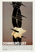 "Movie Posters:Drama, Schindler's List by Saul Bass (Universal, 1993). One Sheet (27"" X39.5"").. ..."