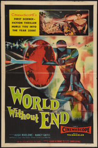 "World Without End (Allied Artists, 1956). One Sheet (27"" X 41""). Science Fiction"