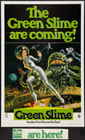 "Movie Posters:Science Fiction, The Green Slime (MGM, 1969). One Sheet (27"" X 41"") Advance, WithOriginal Uncut Snipe (3.25"" X 18""). Science Fiction.. ... (Total: 2Items)"