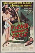 """Movie Posters:Science Fiction, Fiend Without a Face (MGM, 1958). One Sheet (27"""" X 41""""). ScienceFiction.. ..."""