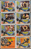 "Movie Posters:Science Fiction, Missile to the Moon (Astor Pictures, 1958). Lobby Card Set of 8(11"" X 14""). Science Fiction.. ... (Total: 8 Items)"