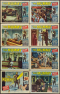 "Movie Posters:Horror, The Mummy (Universal International, 1959). Lobby Card Set of 8 (11""X 14""). Horror.. ... (Total: 8 Items)"