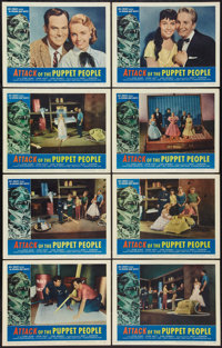 """Attack of the Puppet People (American International, 1958). Lobby Card Set of 8 (11"""" X 14""""). Science Fiction..."""