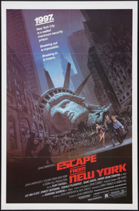 """Escape from New York (Avco Embassy, 1981). One Sheet (27"""" X 41""""). Science Fiction"""