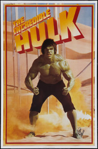 """Lou Ferrigno as """"The Incredible Hulk"""" (Universal International, 1978). Autographed Personality Poster (23""""..."""