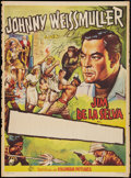 "Movie Posters:Adventure, Jungle Jim (Columbia, 1950s). Spanish Stock Poster (27"" X 37"").Adventure.. ..."